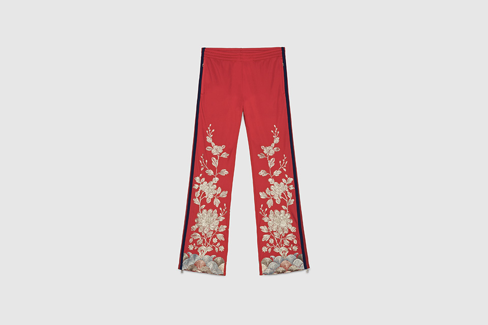 gucci floraltrackpants