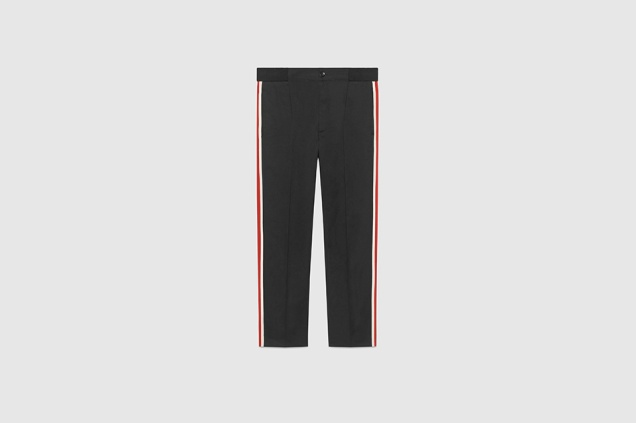 gucci formal trackpants ss17