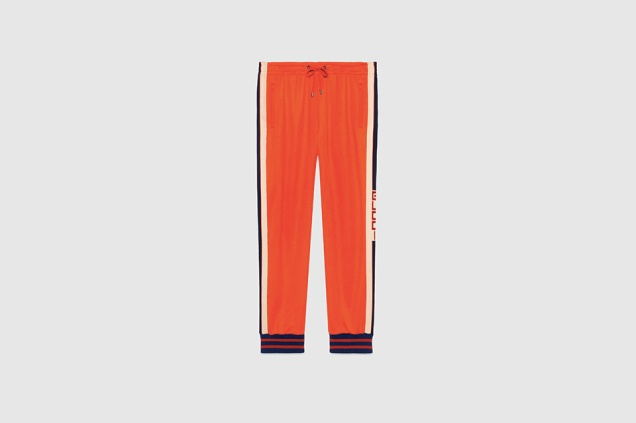 gucci orange trackpants ss17